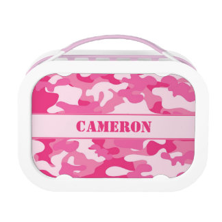 Girly Pink Camo (Camouflage) | Personalized Lunch Box