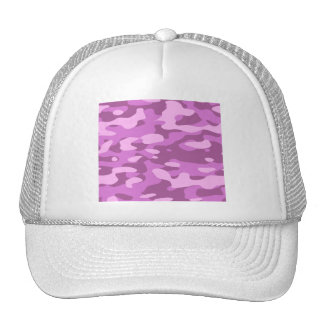 Girly Pink Camouflage Hat