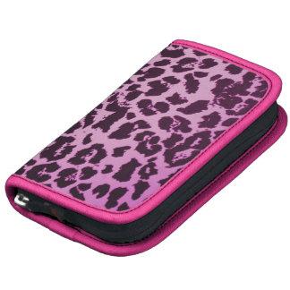 Girly Pink Cheetah Print Smartphone Folio Planner