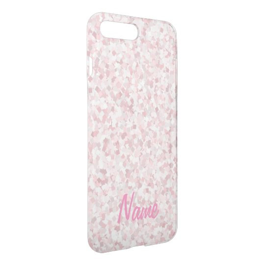 Girly pink confetti design iPhone 7 plus case
