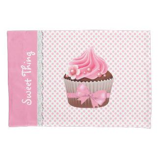 Girly Pink Cupcake Pillow Case