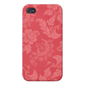 Girly Pink Damask iPhone 4/4S Cover