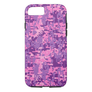 Girly Pink Digital Camo Pattern iPhone 7 Case