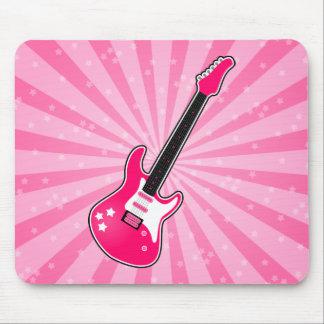 Girly Pink Electric Guitar Mousepad