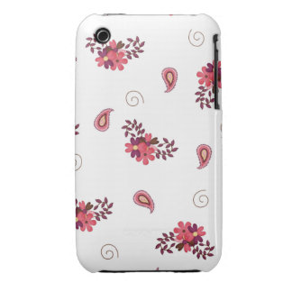 Girly Pink Floral Case-Mate iPhone 3 Cases