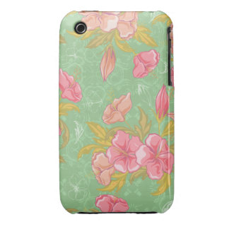 Girly Pink Floral iPhone 3gs Case