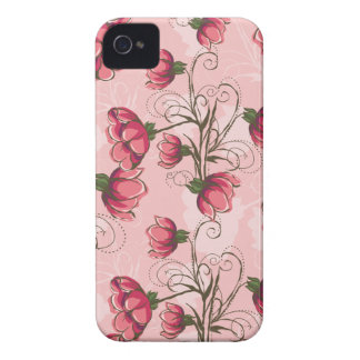 Girly Pink Floral iPhone 4s Case