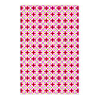 Girly Pink Floral Pattern Stationery