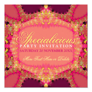 Girly Pink Frills Specialicious Party Invitation