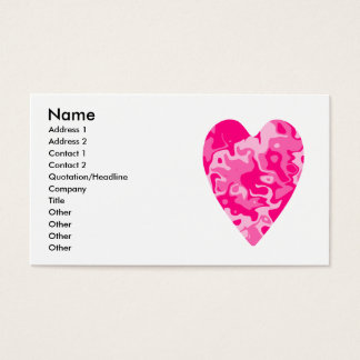 Girly pink heart business or calling cards