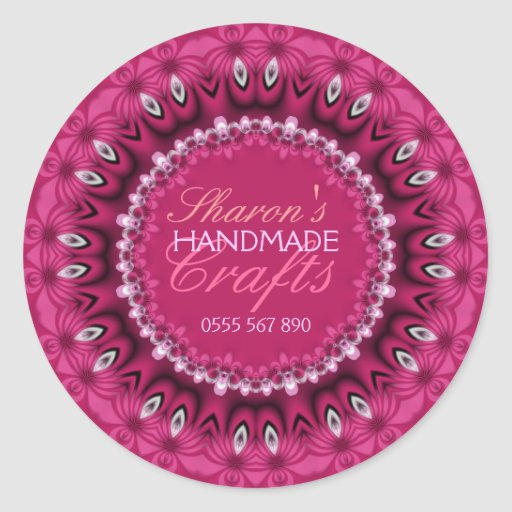 Girly Pink Lacy Handmade Crafts Product Sticker