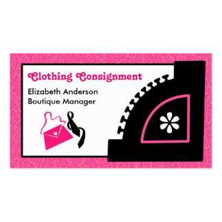 Girly Pink Leopard Clothing Consignment Boutique Pack Of Standard Business Cards