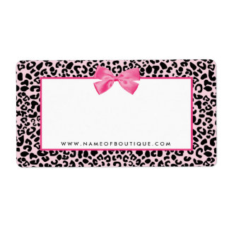 Girly Pink Leopard Print Cute Bow Beauty Boutique