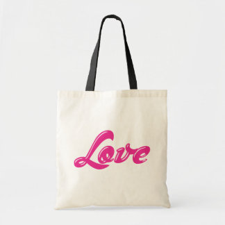 Girly Pink Love  Canvas Grocery Shopping Totebag