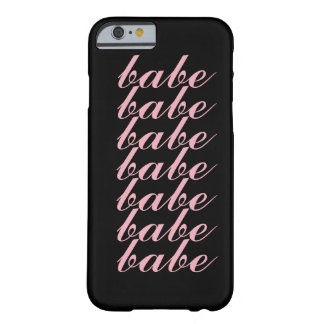 """Girly Pink Minimal """"Babe"""" Love Barely There iPhone 6 Case"""