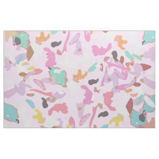 Girly Pink Modern Abstract Camo Art Fabric