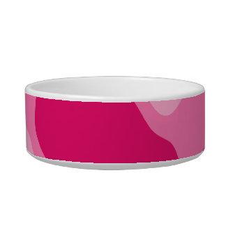 Girly pink monogram bowl
