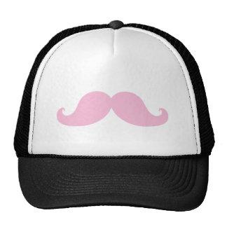 Girly Pink Mustache Cap