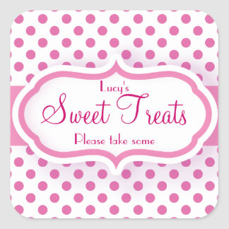 Girly Pink Polka Dot Pattern Cute Stickers