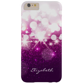 Girly Pink Purple Glitter and Sparkles Barely There iPhone 6 Plus Case