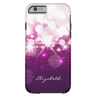 Girly Pink Purple Glitter and Sparkles Pattern Tough iPhone 6 Case