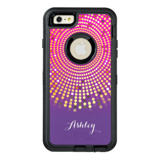 Girly Pink Purple Ombre Fuchsia Dots OtterBox iPhone 6/6s Plus Case