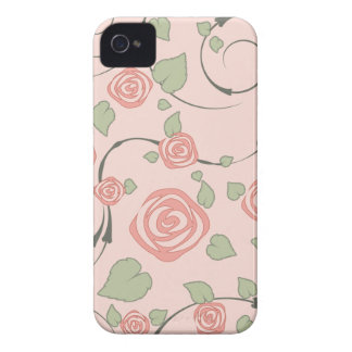 Girly Pink Rose iPhone 4s Case