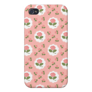 Girly Pink Roses Case For The iPhone 4