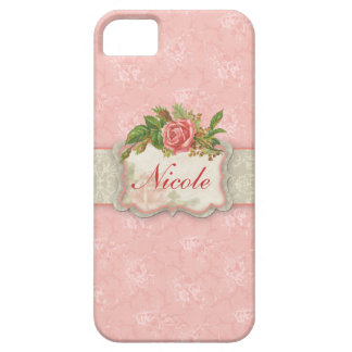 Girly Pink Roses Personalized iPhone 5 Covers