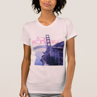 Girly Pink San Francisco Golden Gate Bridge Tee Tees