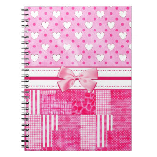 Girly Pink Scrapbook Style Notebook