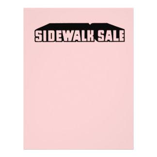 Girly Pink Sidewalk Sale Graphic Sale Font Retro 21.5 Cm X 28 Cm Flyer