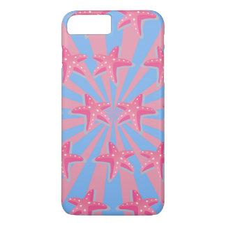 Girly pink starfish iPhone 7 plus case