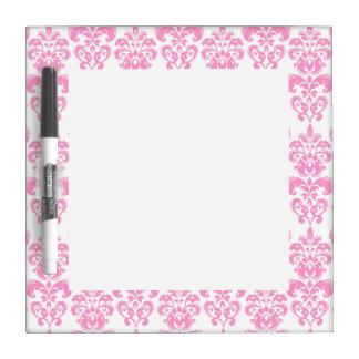 Girly Pink Vintage Damask Pattern 2 Dry-Erase Whiteboard