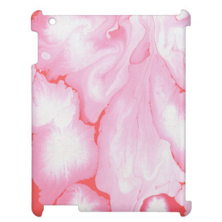Girly pink, water texture design, marbling paper, case for the iPad 2 3 4