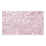 Girly Pink White Abstract Glitter Photo Print Pack Of Standard Business Cards