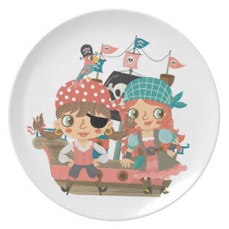 Girly Pirates Plates