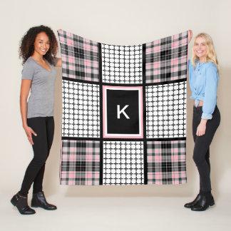 Girly Plaid & Gingham Fleece Blanket