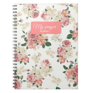 Girly prayer notebook