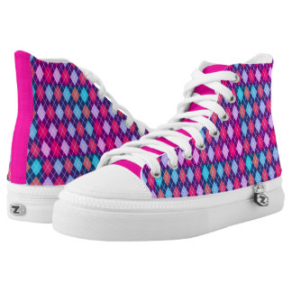Girly Prep High Top Shoes Printed Shoes