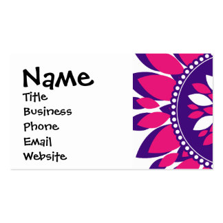 Girly Pretty Pink and Purple Flower Art Gifts Business Card Templates