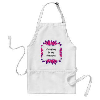 Girly Pretty Pink and Purple Flower Art Gifts Standard Apron