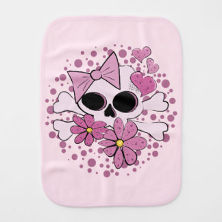 Girly Punk Skull Burp Cloths