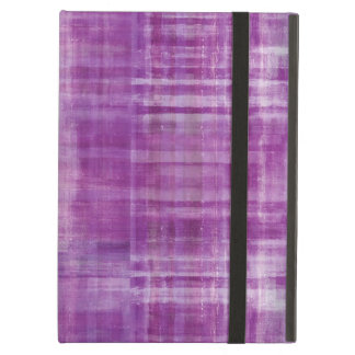 Girly Purple Abstract Art Pattern iPad Air Cases