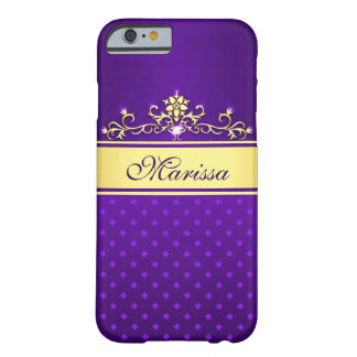 Girly Purple and Gold Diamonds iPhone 6 Case Barely There iPhone 6 Case