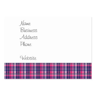 Girly Purple and Pink Plaid Pattern Gifts for Her Pack Of Chubby Business Cards