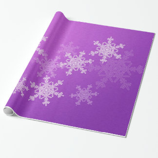 Girly purple and white Christmas snowflakes