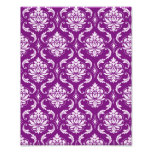 Girly Purple Damask Pattern Photograph
