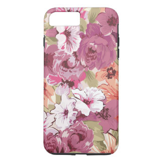 Girly Purple Floral iPhone 7 Plus Case
