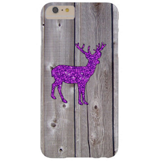 Girly Purple Glitter Deer Rustic Style Barely There iPhone 6 Plus Case